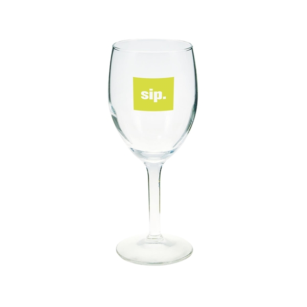 Imprinted 8 oz. Wine Glass