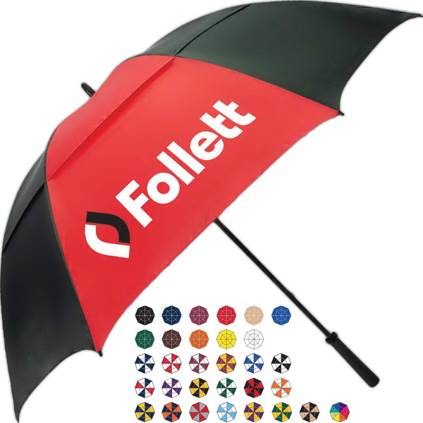 Customized Eagle Manual Open Vented Umbrella