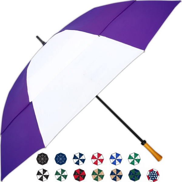 Custom Tornado Manual Open Umbrella With Wind Resistant Design