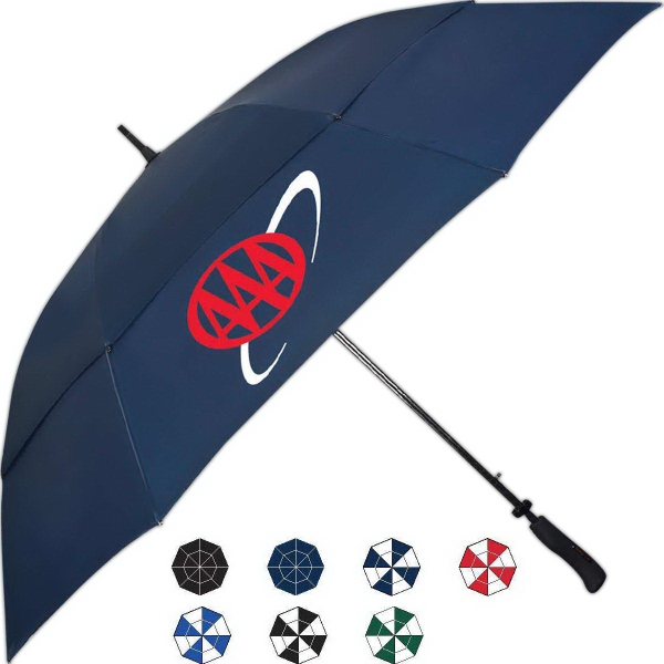 Imprinted Tourney Automatic Open Golf Umbrella With Ergonomic Handle