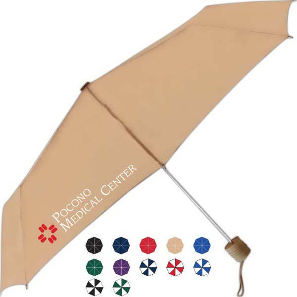Custom Poco Manual Open Umbrella With Rubberized Handle