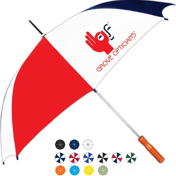 Imprinted Sleek Automatic Open Fashion Stick Umbrella