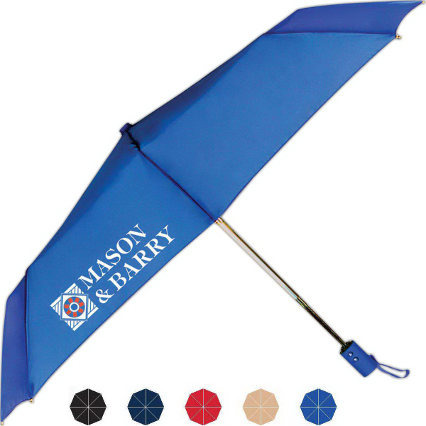 Personalized Traveler Folding Umbrella With Automatic Open And Close