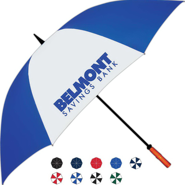 Customized Hurricane Golf Umbrella With Fiberglass Shaft And Ribs