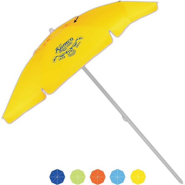 Customized Islander Beach Manual Open Umbrella