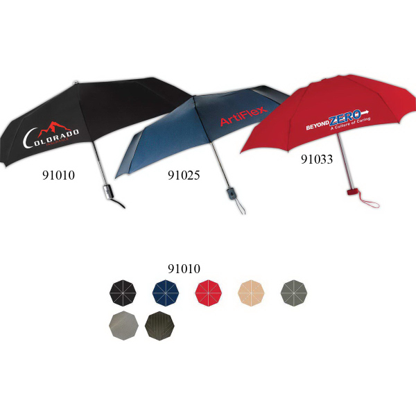 Customized Manhattan Umbrella With Two Tone Rubberized Handle