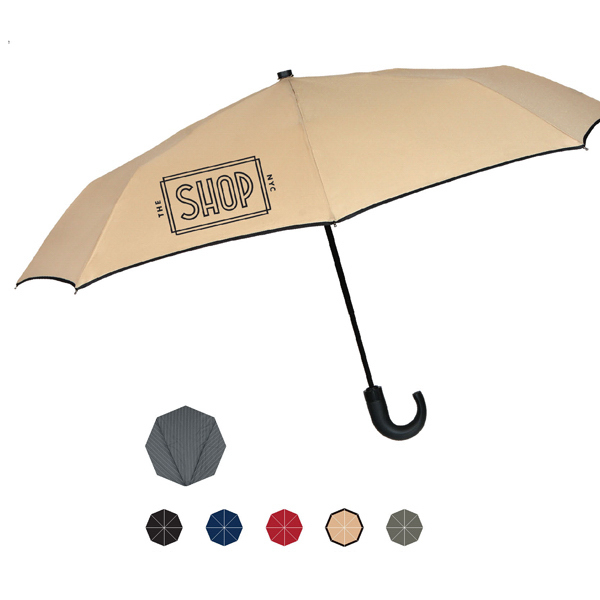 Customized Kensington Umbrella With Traditional Black Wood Crook Handle