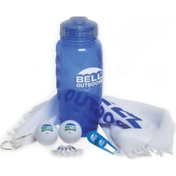Personalized Poly-Cool Bottle Golf Kit