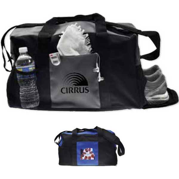 Imprinted Action Duffel Bag