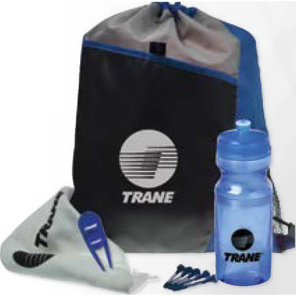 Imprinted Drawstring Sport Pack Golf Kit