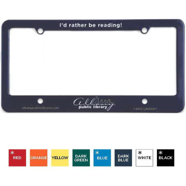 Personalized License Plate Frame (4 Holes - Straight Bottom)