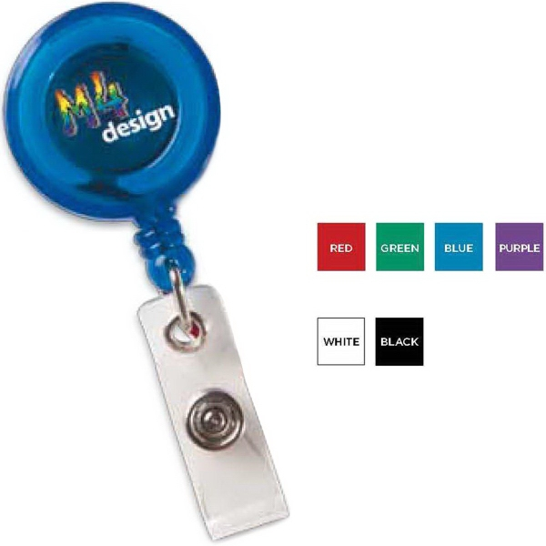 Customized Round Secure-A-Badge (TM) with Alligator Clip