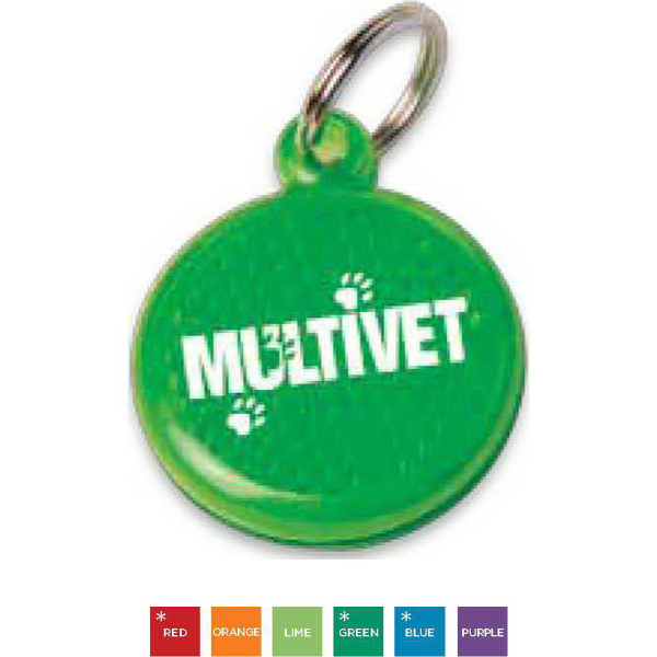 Personalized Round Reflector ID Tag
