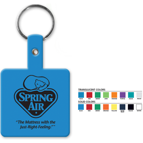 Printed Square Flexible Key Tag