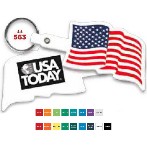 Promotional U. S. Flexible Key Tag