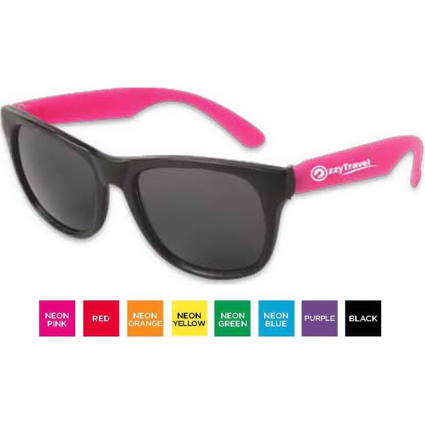 Custom Neon Sunglasses - Black Frame