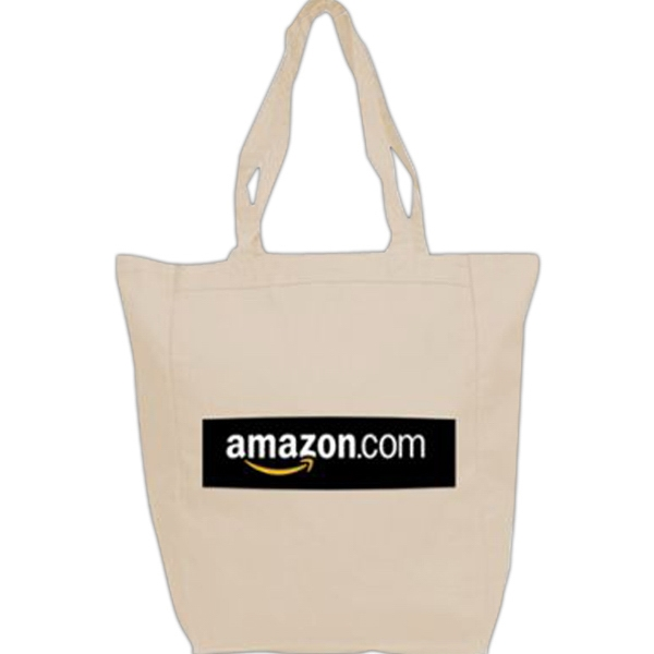 Printed 100% Cotton Canvas Tote Bag
