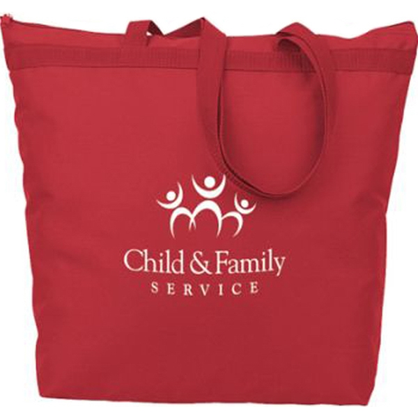 Promotional Eco Friendly Large Zippered Tote