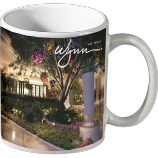 Personalized 11 oz Ceramic Coffee Mug- Full Color