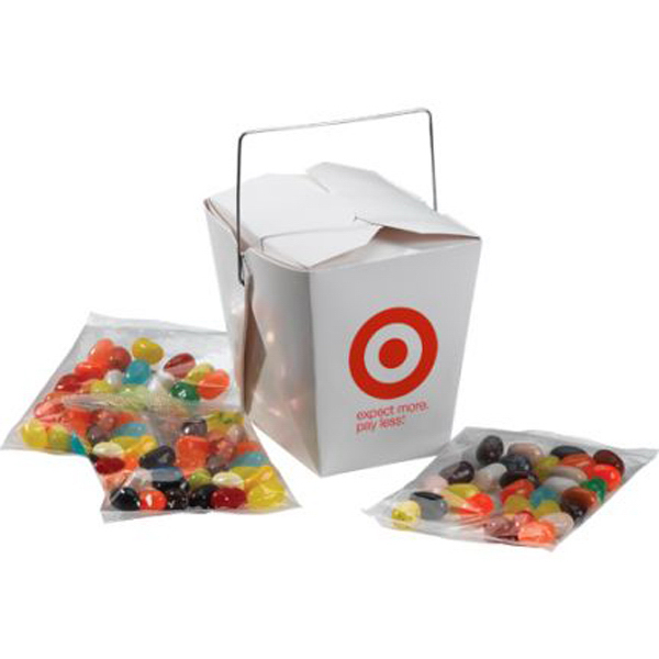 Promotional Chinese Takeout Box with Tootsie Rolls