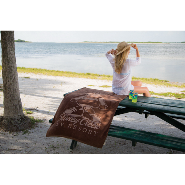 Printed Diamond Collection Colored Beach Towel