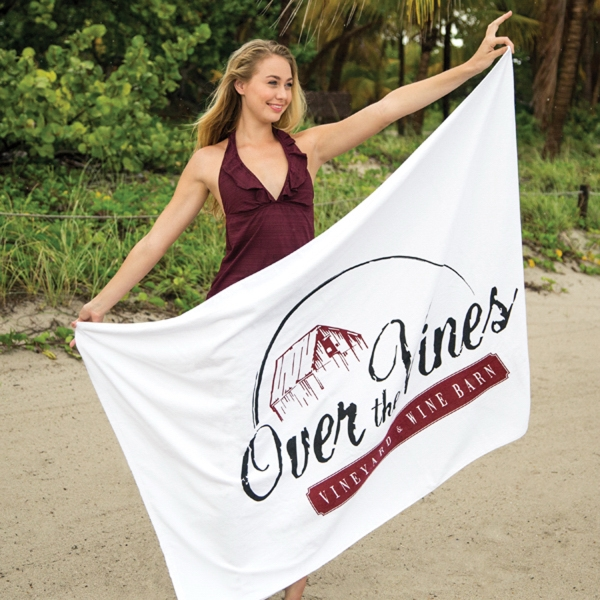 Customized Platinum Collection Beach Towel