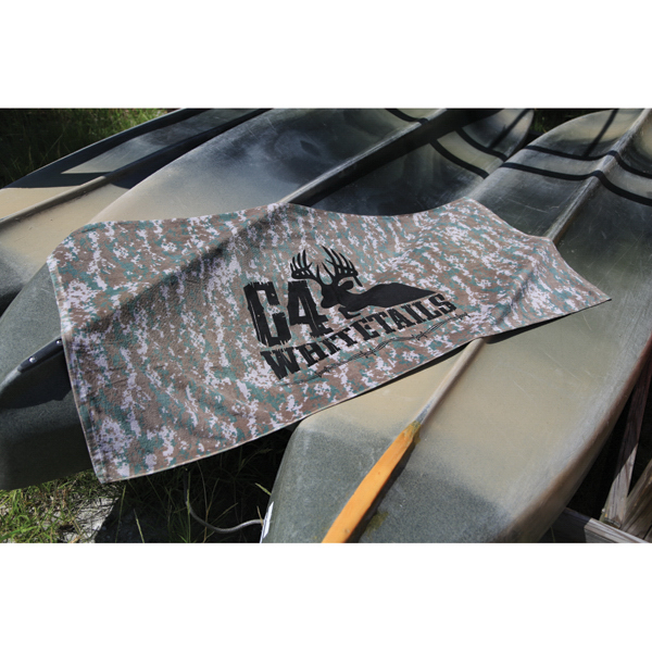 Printed Camo Beach Towel