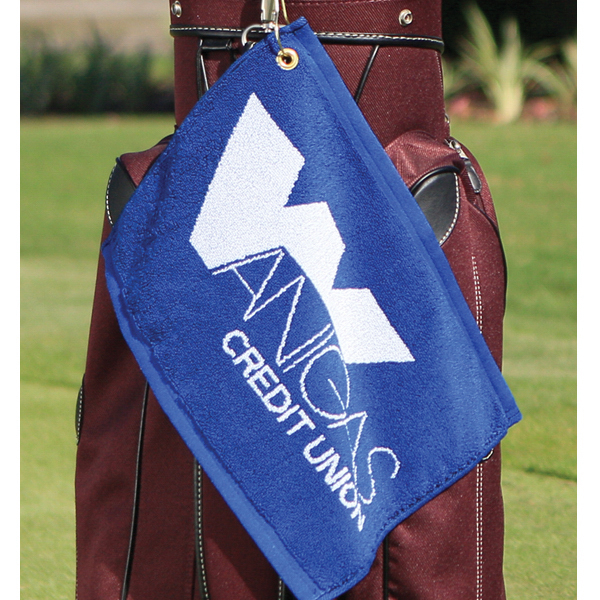 Customized Custom Jacquard Woven Golf Towel