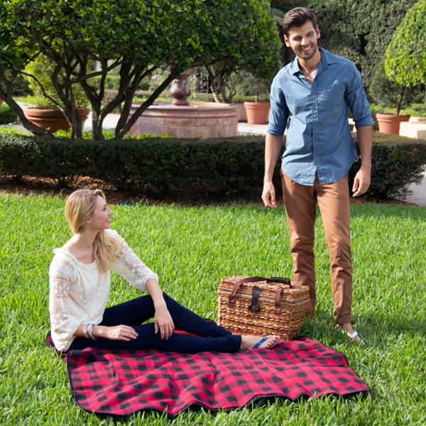 Promotional Fleece/Nylon Picnic Blanket