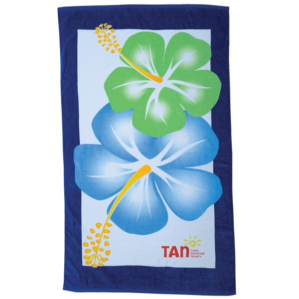 Printed Hibiscus Collection Stock Beach Towel