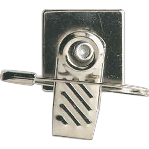 Imprinted Safety Pin and Swivel Clip