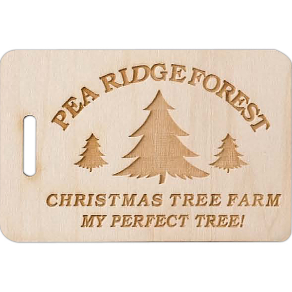 Promotional Laser Engraved Wood Tag
