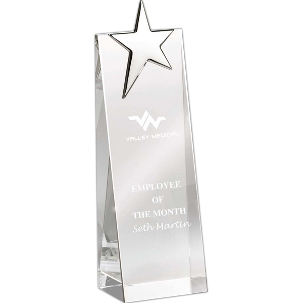 Custom Crystal Tower Award
