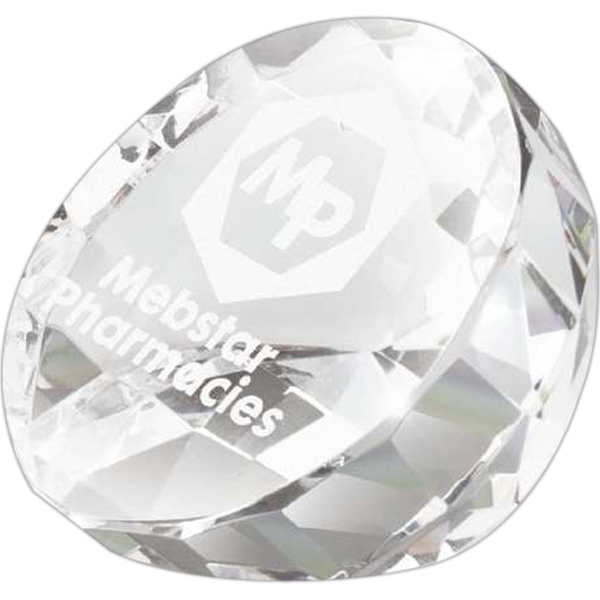 Customized Diamond Stone Shaped Crystal Award