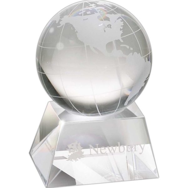Custom Crystal Globe Award