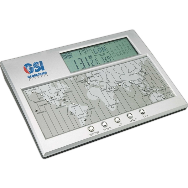 Personalized Digital World Time Clock