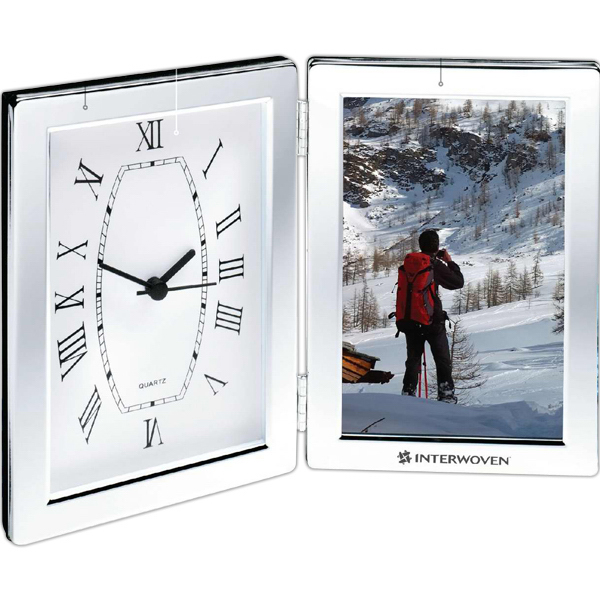Promotional Photo Frame and Hinged Clock