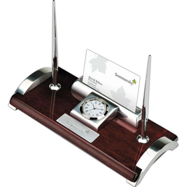 Promotional Clock/ Card Holder and Pen Stand