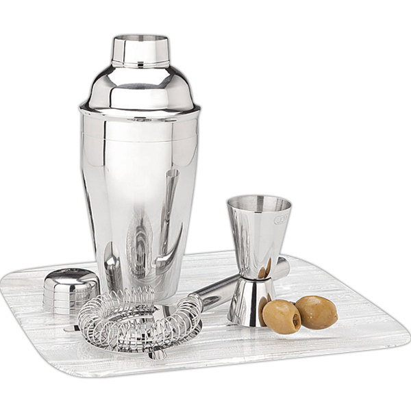 Imprinted Martini Shaker Set