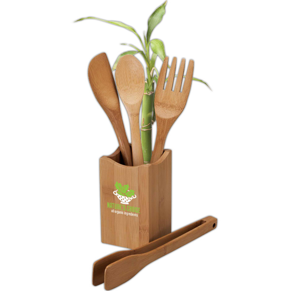 Promotional Bamboo Kitchen Utensil Set