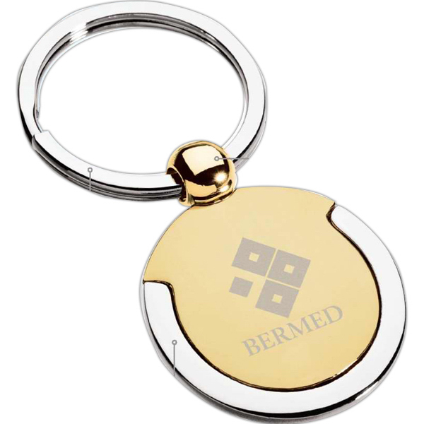 Printed Silver and Gold Finish Keyring