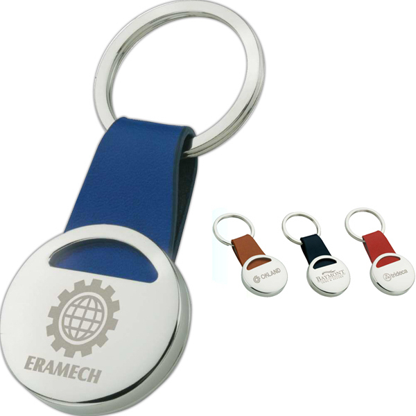 Customized Chrome Disk Keyring