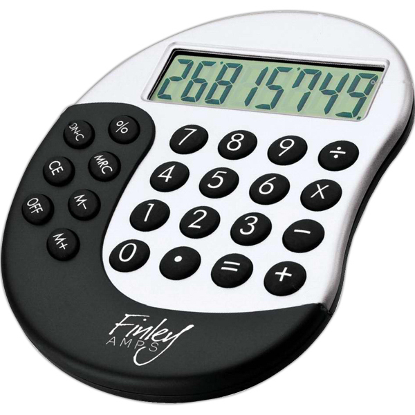 Imprinted Calculator with Rubber Touch Key