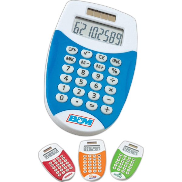 Printed Dual Power Pocket Calculator