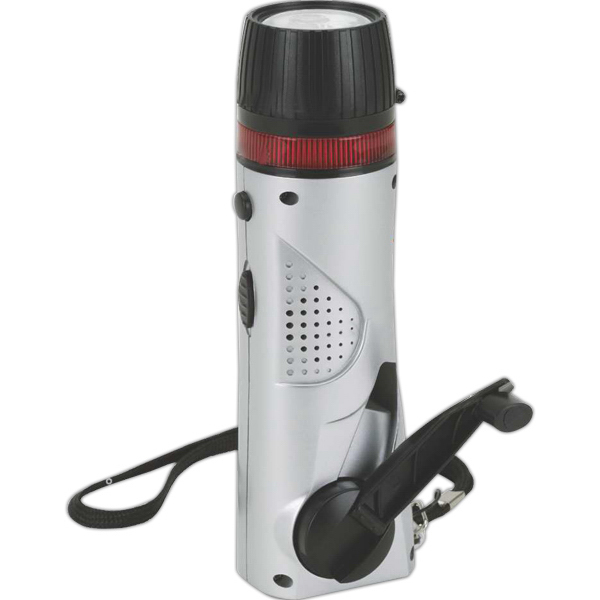 Imprinted Mini Survival Flashlight/ Radio