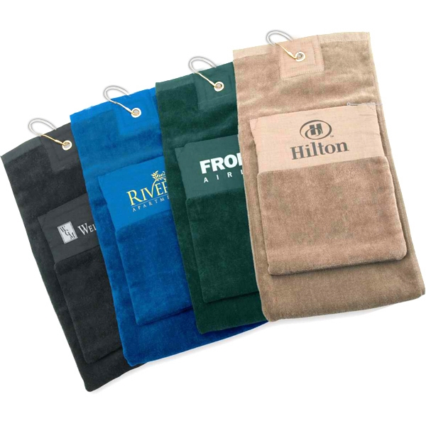 Imprinted Single Fold Golf Towel