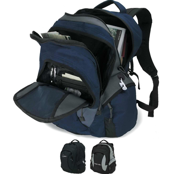 Customized Large Zippered Front Compartment Backpack