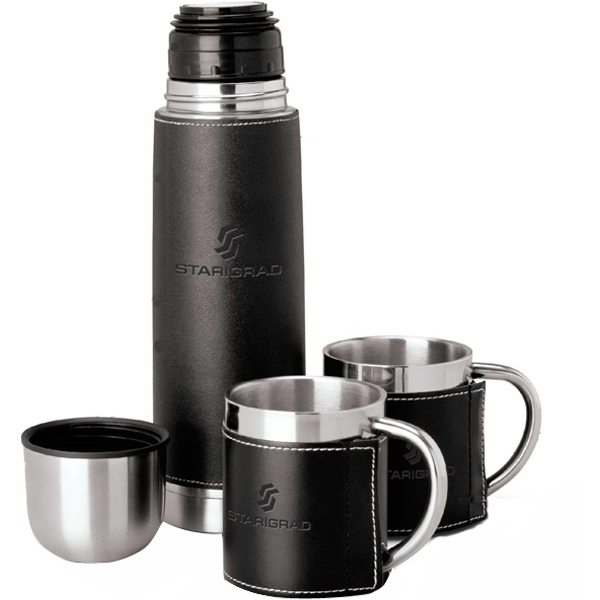 Imprinted Flask travel set