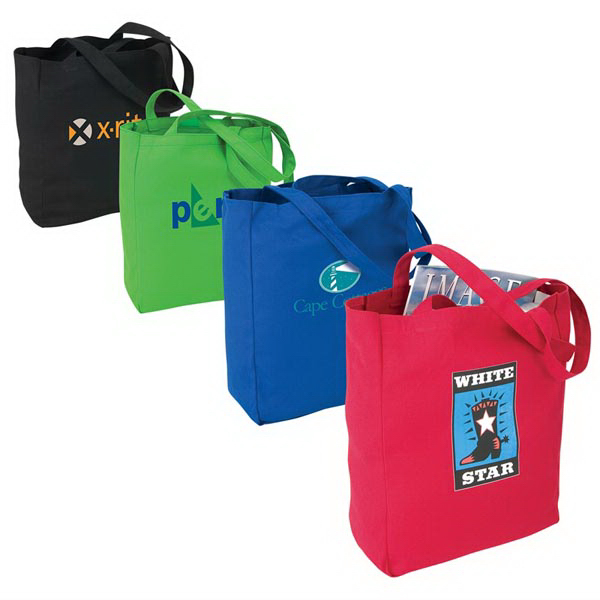 Personalized Colored Canvas Tote
