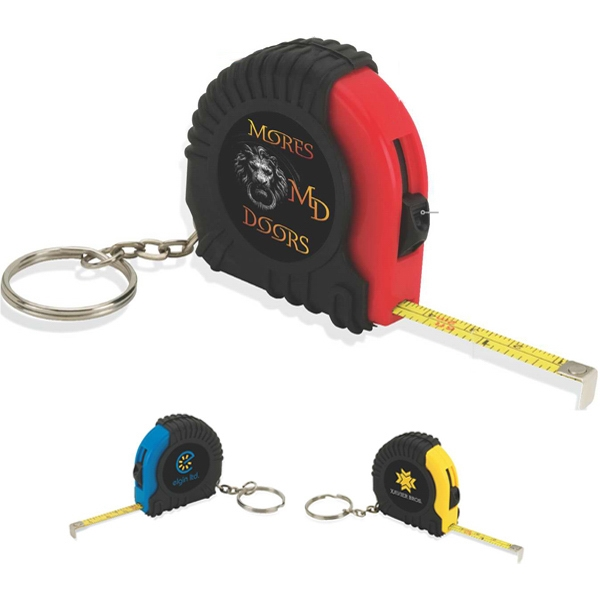 Imprinted Mini Tape Measure Keyring